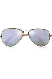 Aviator gold-tone mirrored sunglasses