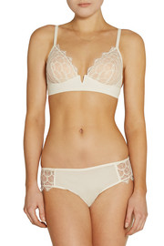 Galleria Tanga lace and stretch-silk thong