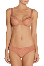Madame Aime Café de Flore lace and satin briefs