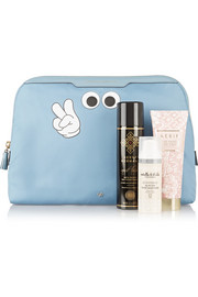 Anya Hindmarch Lotions & Potions printed leather-trimmed twill cosmetic case