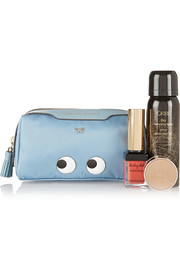 Anya Hindmarch Girlie Stuff printed leather-trimmed twill cosmetic case