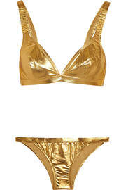 Metallic triangle bikini