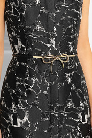 Leather and gold-tone belt
