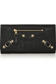 Giant Money studded textured-leather wallet