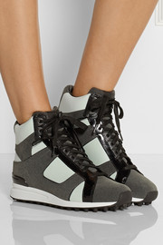 3.1 Phillip Lim Trance leather and suede high-top sneakers