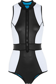 Temptation paneled neoprene swimsuit
