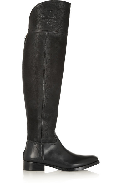 0d0a950c1ab Tory Burch. Simone suede and leather over-the-knee boots