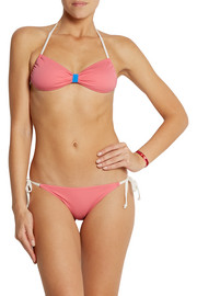 Solid and Striped + Poppy Delevingne halterneck bikini