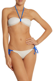 Solid and Striped + Poppy Delevingne bandeau bikini
