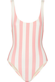 Anne-Marie striped swimsuit