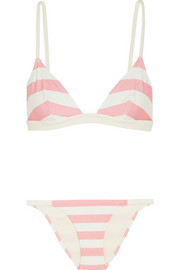 The Morgan striped triangle bikini