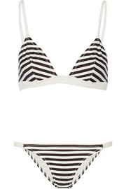 Morgan striped triangle bikini