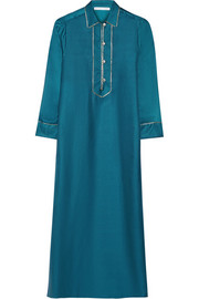 Alma silk-twill nightdress
