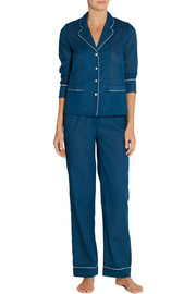 Raphaella Riboud George and Frantz Swiss-dot cotton pajama set
