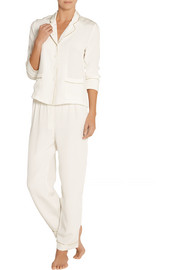 George and Alfred silk-crepe pajama set