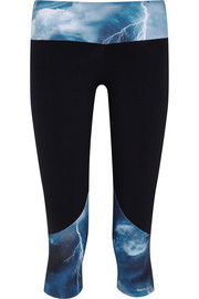I Am Heavenly cropped printed stretch leggings