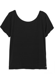 Emma off-the-shoulder jersey T-shirt
