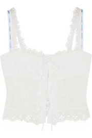 Chloé + House of Voltaire broderie anglaise cotton top
