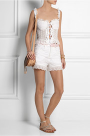 Chloé + House of Voltaire broderie anglaise cotton shorts