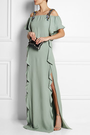 Chloé + House of Voltaire crystal-embellished crepe gown