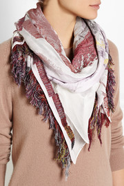 Chloé + House of Voltaire silk-jacquard scarf