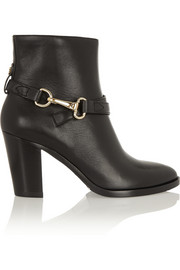 Burberry Shoes & Accessories Horsebit-detailed leather ankle boots