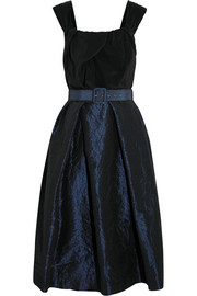 Moon silk crepe de chine and taffeta dress