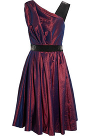 Star taffeta and satin dress