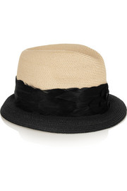 Craig two-tone woven straw trilby