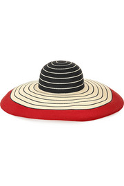 Eugenia Kim Wide-brim striped woven straw sunhat