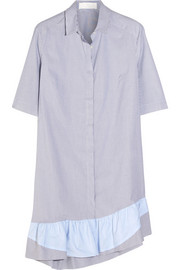 Addition striped stretch-cotton dress