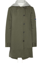 Convertible washed cotton-twill coat