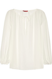 Silk-georgette blouse