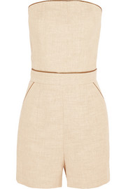 Cotton-blend canvas playsuit
