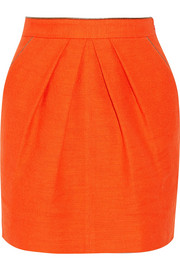 Tamara Mellon Cotton-blend canvas mini skirt