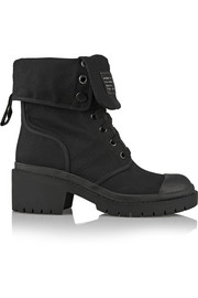 Marc by Marc Jacobs Cotton-canvas ankle  boots