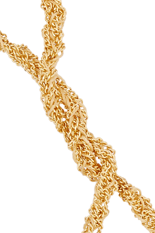 Carolina Bucci Globe Lucky 18-karat gold and silk bracelet