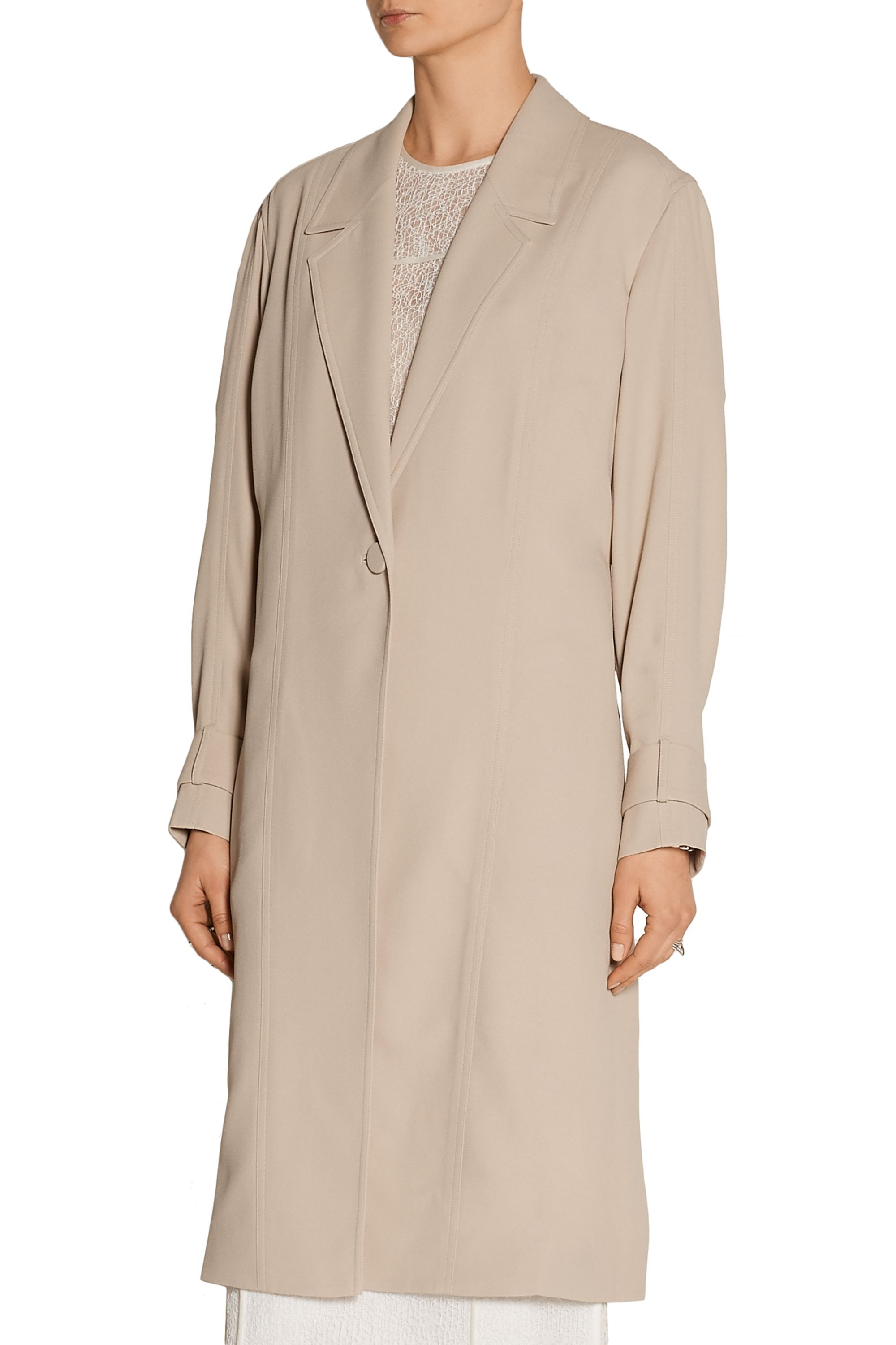 Jason Wu Collection Crepe trench coat