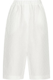 Fez linen and silk-blend jacquard shorts