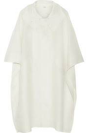 Adam Lippes Hooded linen and silk-blend jacquard coat
