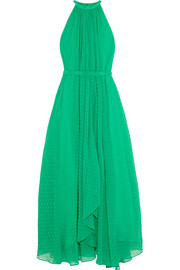 Irina Swiss-dot chiffon maxi dress