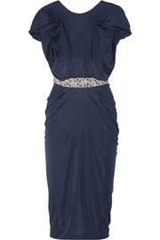 Apsara embellished jersey dress