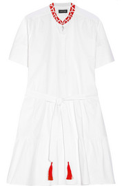 Ashley embroidered cotton-poplin dress