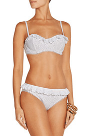 Michael Kors Broderie anglaise underwired bikini