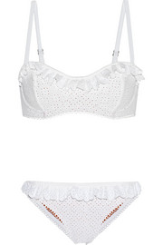 Broderie anglaise underwired bikini