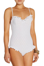 Michael Kors Broderie anglaise underwired swimsuit