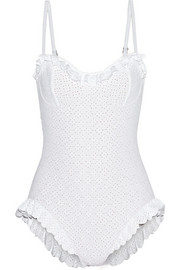 Broderie anglaise underwired swimsuit