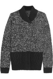 Proenza Schouler Bouclé and cable-knit cardigan