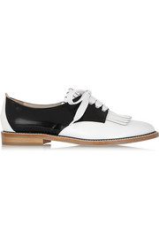 Oscar de la Renta Adelaide two-tone leather brogues