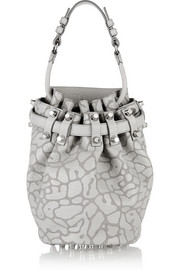 Diego leopard-print leather shoulder bag